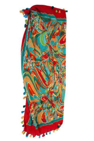 rouxa thalasis 04 - Παρεό από βαμβάκι με πολύχρωμα σχέδια Κωδ. 26226